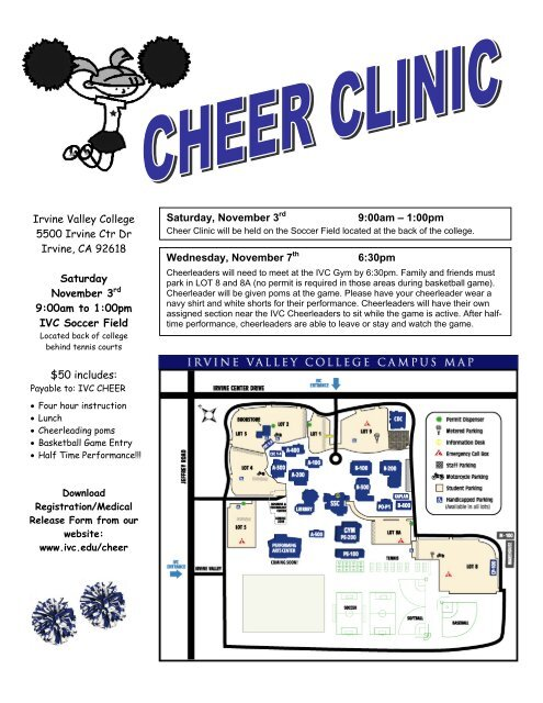 Clinic Registration/Medical Release Form - Irvine Valley College