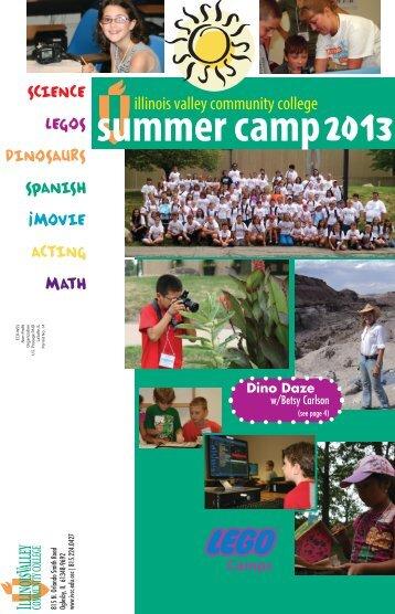 IVCC Camp Schedule 2013