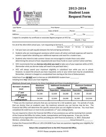 Direct Loan Request Form  Eastern Wyoming College