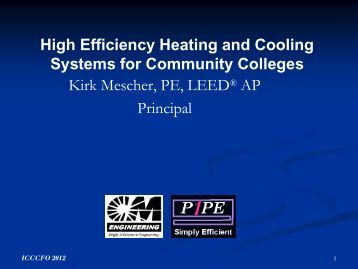 High Efficiency Heating and Cooling Systems for Community ... - IVCC