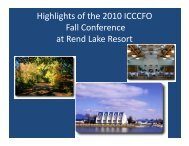 Highlights of the 2010 ICCCFO Fall Conference at Rend ... - IVCC