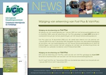 IVCIE news9:Opmaak 1 - Interregionale Verpakkingscommissie