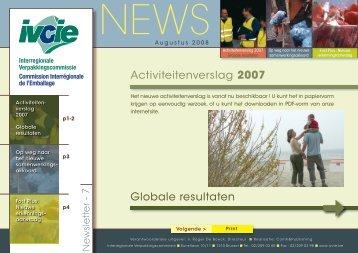 Activiteitenverslag 2007 Globale resultaten - Interregionale ...