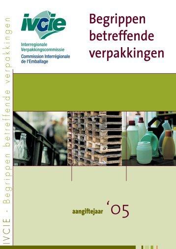 Begrippen betreffende verpakkingen - Interregionale ...