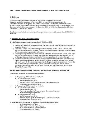 teil 1: das zusammenarbeitsabkommen vom 4. november 2008