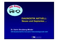 DIAGNOSTIK AKTUELL: Neues und Geplantes ... - IVD GmbH