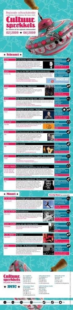 Cultuursprokkels - Voorjaar 2009 - IveBiC