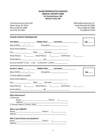 Initial Consultation Form