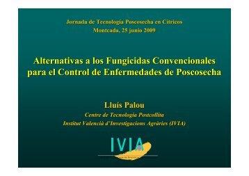 Alternativas a los fungicidas convencionales para el contro - IVIA
