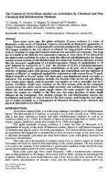 The Control of Verticillium dahliae on Artichokes by Chemical ... - IVIA