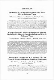 ABSTRACTS Defective RNA Molecules Associated with Citrus ... - IVIA