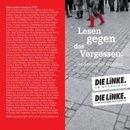 110510 Lesen gegen das vergessen - DIE LINKE. Berlin
