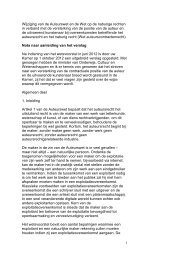 Nota naar aanleiding van het verslag Auteurscontractenrecht - IViR
