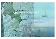 Algenatlas IJsselmeer 2003 - VU University, Institute for ...