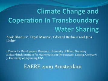 Session 2 Bhaduri - VU University, Institute for Environmental Studies