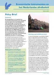 Economische instrumenten en het Nederlandse afvalbeleid