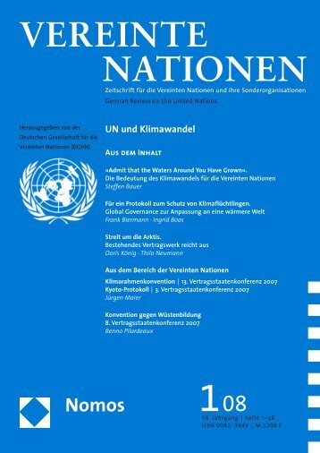 vereinte nationen - VU University, Institute for Environmental Studies ...