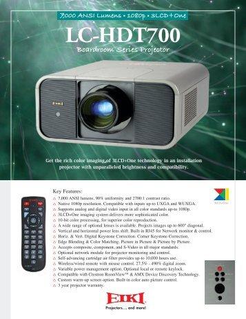 Eiki LC-HDT700 Brochure