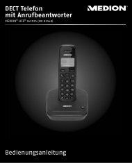 Bedienungsanleitung DECT Telefon mit Anrufbeantworter - Medion
