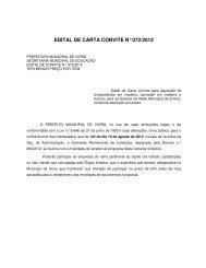 edital de carta convite n° 072/2012 - Prefeitura Municipal de Ivorá