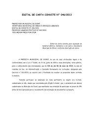 edital de carta convite n° 046/2013 - Prefeitura Municipal de Ivorá