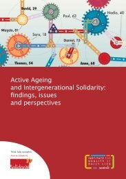 Active Ageing and Intergenerational Solidarity: findings, issues and ...