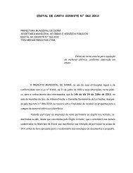 edital de carta convite n° 062.2012 - Prefeitura Municipal de Ivorá