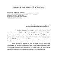 edital de carta convite n° 036/2013 - Prefeitura Municipal de Ivorá