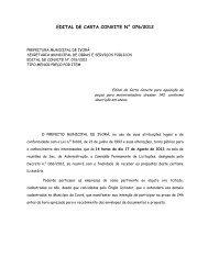 edital de carta convite n° 076/2012 - Prefeitura Municipal de Ivorá