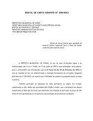 edital de carta convite n° 009/2013 - Prefeitura Municipal de Ivorá