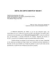 edital de carta convite n° 084/2011 - Prefeitura Municipal de Ivorá