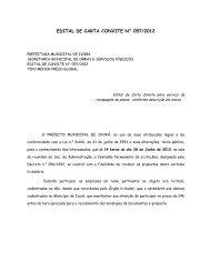 edital de carta convite n° 057/2012 - Prefeitura Municipal de Ivorá