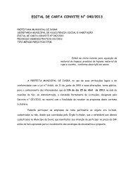 edital de carta convite n° 040/2013 - Prefeitura Municipal de Ivorá