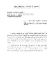 edital de carta convite n° 034/2012 - Prefeitura Municipal de Ivorá