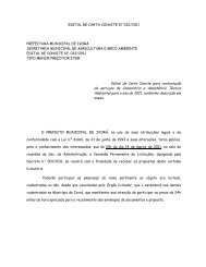 EDITAL DE CARTA CONVITE N° 032/2011 Edital de Carta Convite ...