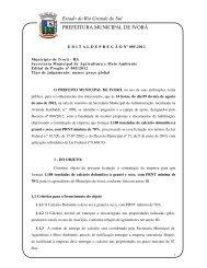Estado do Rio Grande do Sul PREFEITURA MUNICIPAL DE IVORÁ