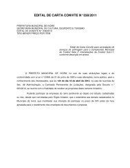 edital de carta convite n° 038/2011 - Prefeitura Municipal de Ivorá