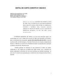 edital de carta convite n° 058/2012 - Prefeitura Municipal de Ivorá
