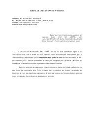 EDITAL DE CARTA CONVITE N° 063/2010 PREFEITURA ...