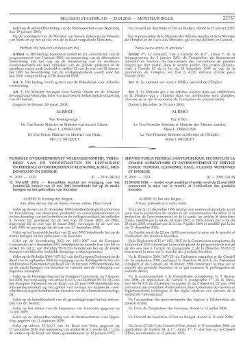 Staatsblad Moniteur - IVP