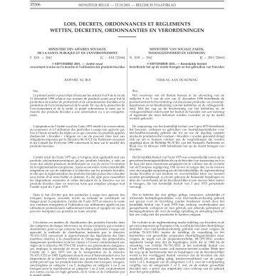 lois, decrets, ordonnances et reglements wetten, decreten ... - IVP