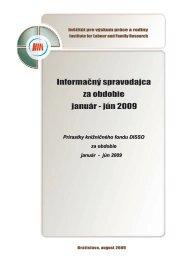 1/2009 - Inštitút pre výskum práce a rodiny