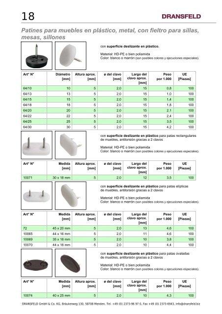 40/con clavo marr/ón 20/mm de di/ámetro Pieza Pl/ástico
