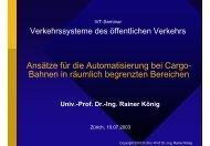 Ansätze für die Automatisierung bei Cargo- Bahnen in räumlich ... - IVT