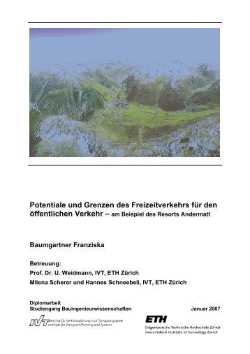 Potentiale und Grenzen des Freizeitverkehrs für den - IVT - ETH Zürich