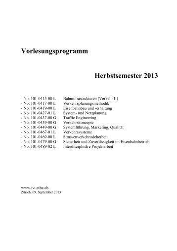 Herbstsemester 2013 - IVT