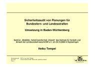Sicherheitsaudit von Planungen für Bundesfern- und Landesstraßen ...