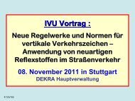 Neue Regelwerke und Normen für vertikale Verkehrszeichen ...