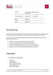 Agenda - IVU Informationssysteme GmbH