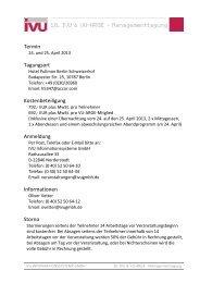 Anmeldeformular - IVU Informationssysteme GmbH